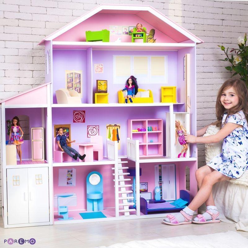 Купить Домик для Барби – Фантазия, гараж, лифт, лестница, мебель, Paremo