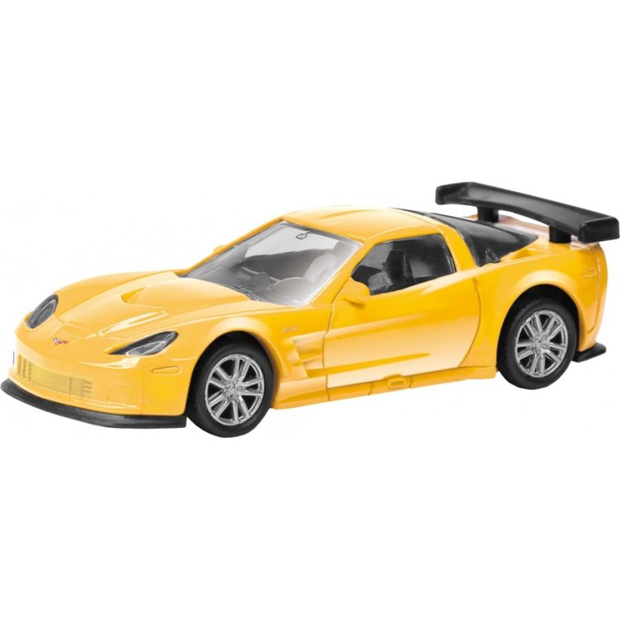 Купить Машина металлическая RMZ City - Chevrolet Corvette C6-R, 1:64, цвет черный / желтый