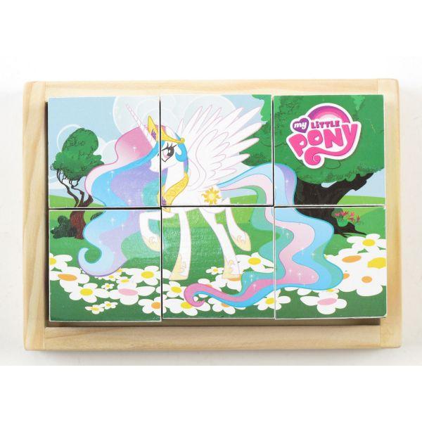 Деревянные кубики «My Little Pony» 6 шт.Кубики<br>Деревянные кубики «My Little Pony» 6 шт.<br>