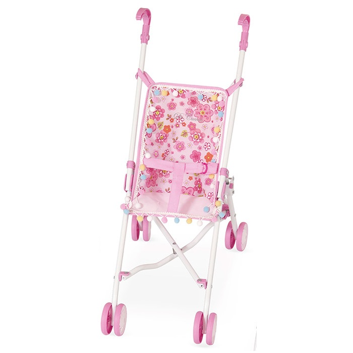 Коляска-трость - Розовые цветы, 56 смКоляски для кукол<br>Коляска-трость - Розовые цветы, 56 см<br>