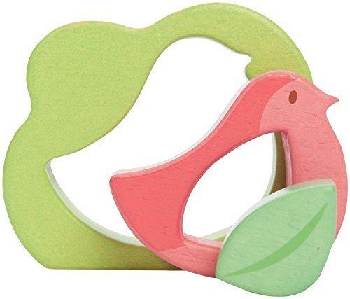 Пазл для малышей - Птичка с листочком, 3 элементаРамки и паззлы<br>Пазл для малышей - Птичка с листочком, 3 элемента<br>