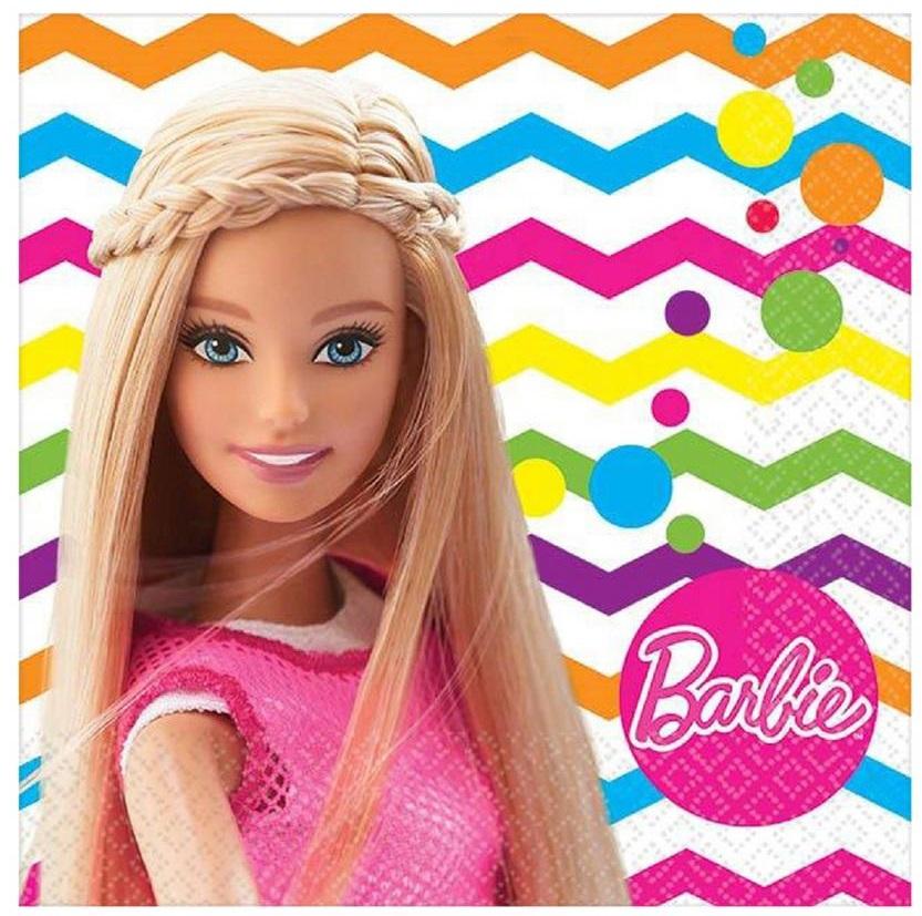 Салфетки Барби, 25 см, 16 штукBarbie (Барби)<br>Салфетки Барби, 25 см, 16 штук<br>