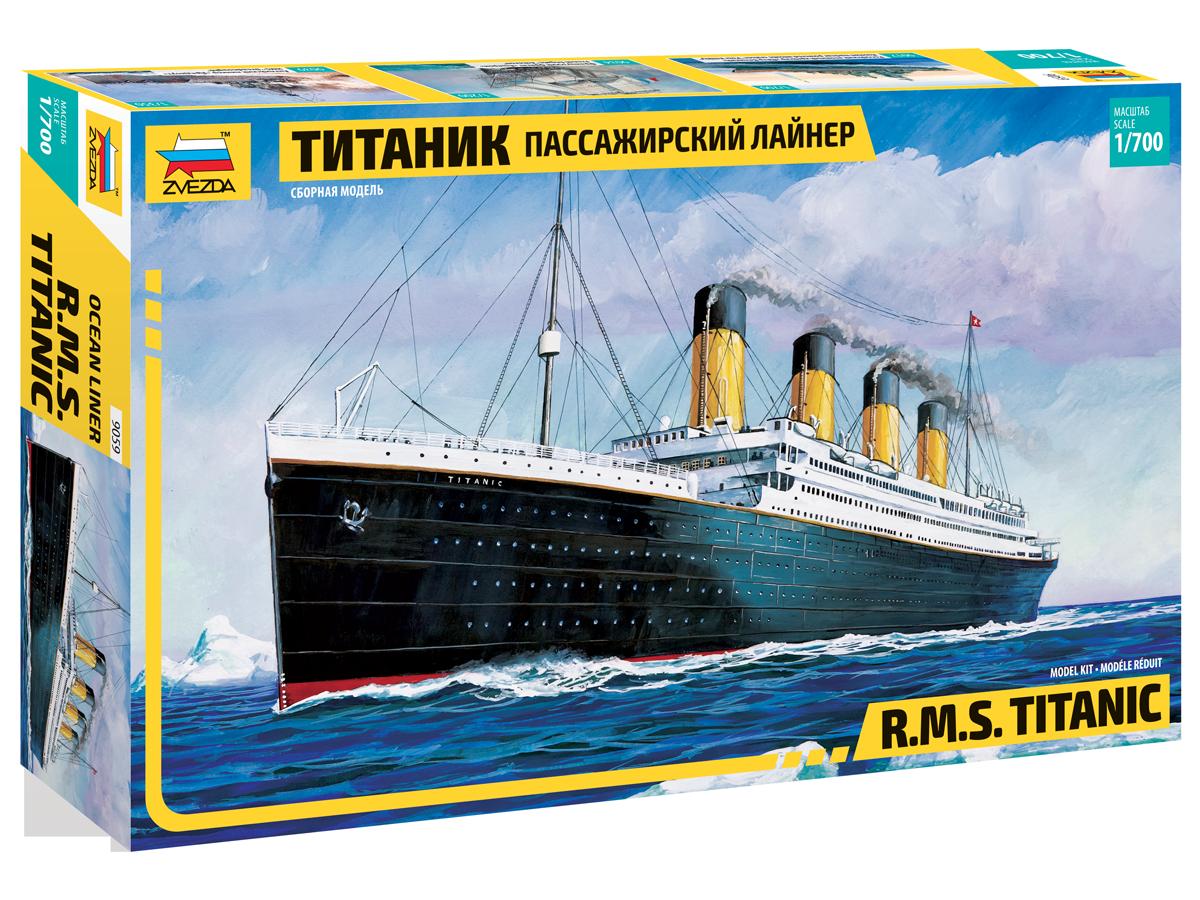 Модель сборная - Пассажирский лайнер - ТитаникМодели кораблей для склеивания<br>Модель сборная - Пассажирский лайнер - Титаник<br>