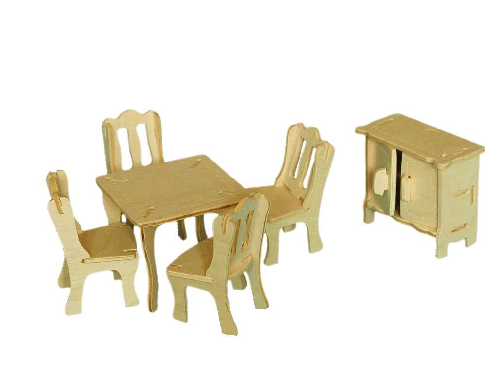 Модель деревянная сборная - ГостинаяПазлы объёмные 3D<br>Модель деревянная сборная - Гостиная<br>