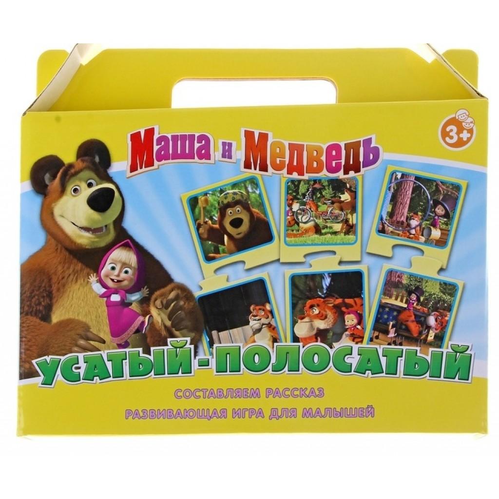 Игра настольная Маша и Медведь - Усатый-полосатыйМаша и медведь игрушки<br>Игра настольная Маша и Медведь - Усатый-полосатый<br>