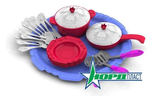 Кухонный сервиз на 23 предмета серии Волшебная ХозяюшкаАксессуары и техника для детской кухни<br>Кухонный игрушечный сервиз - Волшебная Хозяюшка отлично подойдет в качестве подарка. Яркие, красивые тарелки и кастрюльки - всего 23 предмет...<br>
