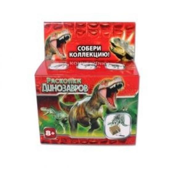 Настольная игра - Раскопки: Динозавры, с гипсовым бруском и скребкомАрхеолог<br>Настольная игра - Раскопки: Динозавры, с гипсовым бруском и скребком<br>