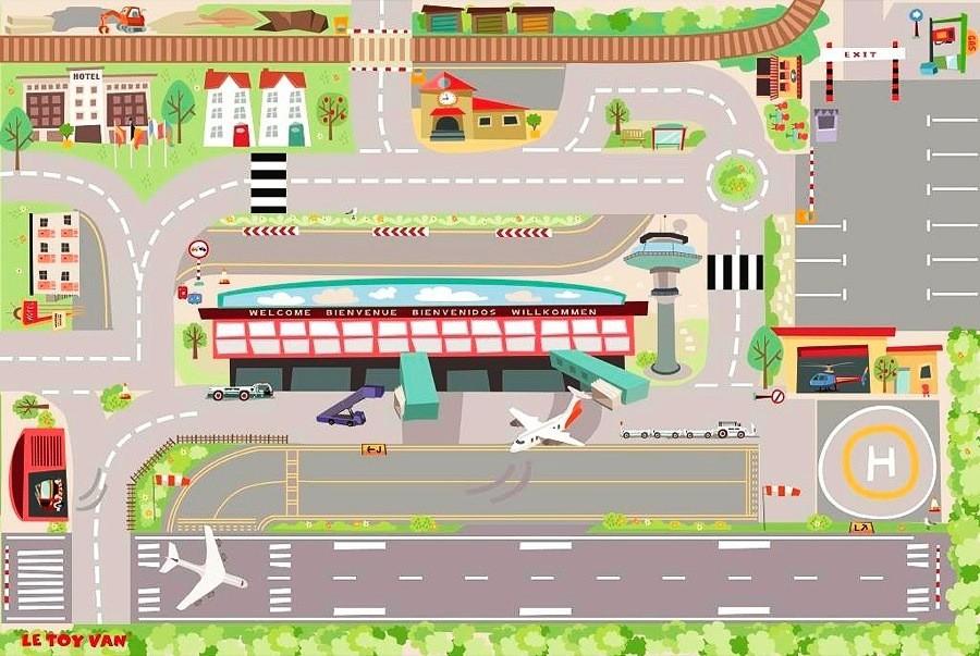 Детский игровой коврик «Аэропорт»Детские парковки и гаражи<br>Детский игровой коврик «Аэропорт»<br>