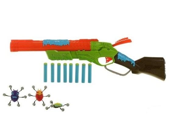 Ружье с мишенями - Атака Пауков, 8 патронов и 3 паука-мишениДетское оружие<br>Ружье с мишенями - Атака Пауков, 8 патронов и 3 паука-мишени<br>