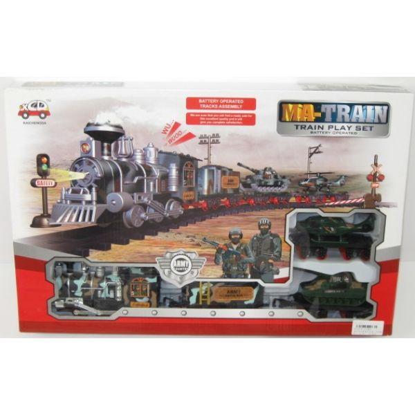 Железная дорога с военной техникой, свет, звукДетская железная дорога<br>Железная дорога с военной техникой, свет, звук<br>