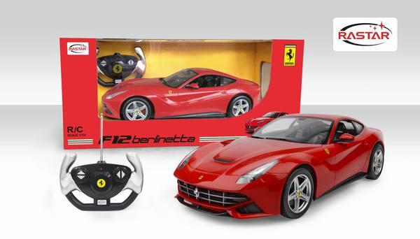 картинка Радиоуправляемая машинка Ferrari F12, масштаб 1:14, с эффектом звука от магазина Bebikam.ru