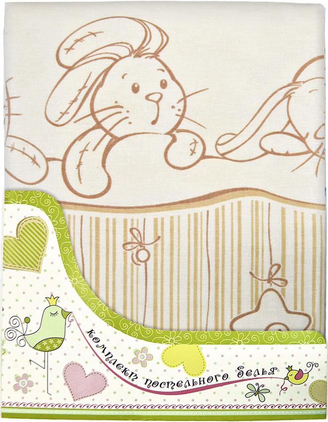 Комплект постельного белья Зая-Зай, желтыйДетское постельное белье<br>Комплект постельного белья Зая-Зай, желтый<br>