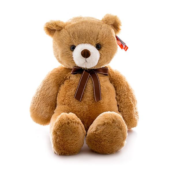 Мягкая игрушка Медведь коричневый с ленточкой, 65 см.Медведи<br>Мягкая игрушка Медведь коричневый с ленточкой, 65 см.<br>