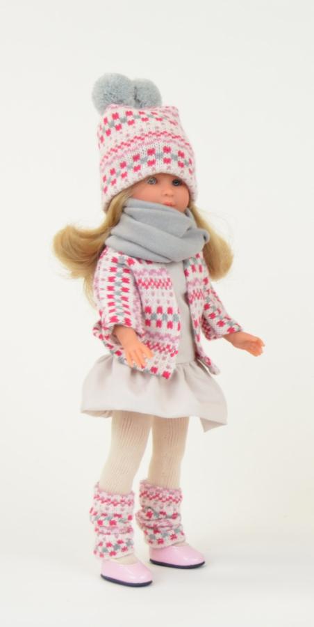 Кукла Селия в теплой шапке и шарфе, 30 см.Куклы ASI (Испания)<br>Кукла Селия в теплой шапке и шарфе, 30 см.<br>