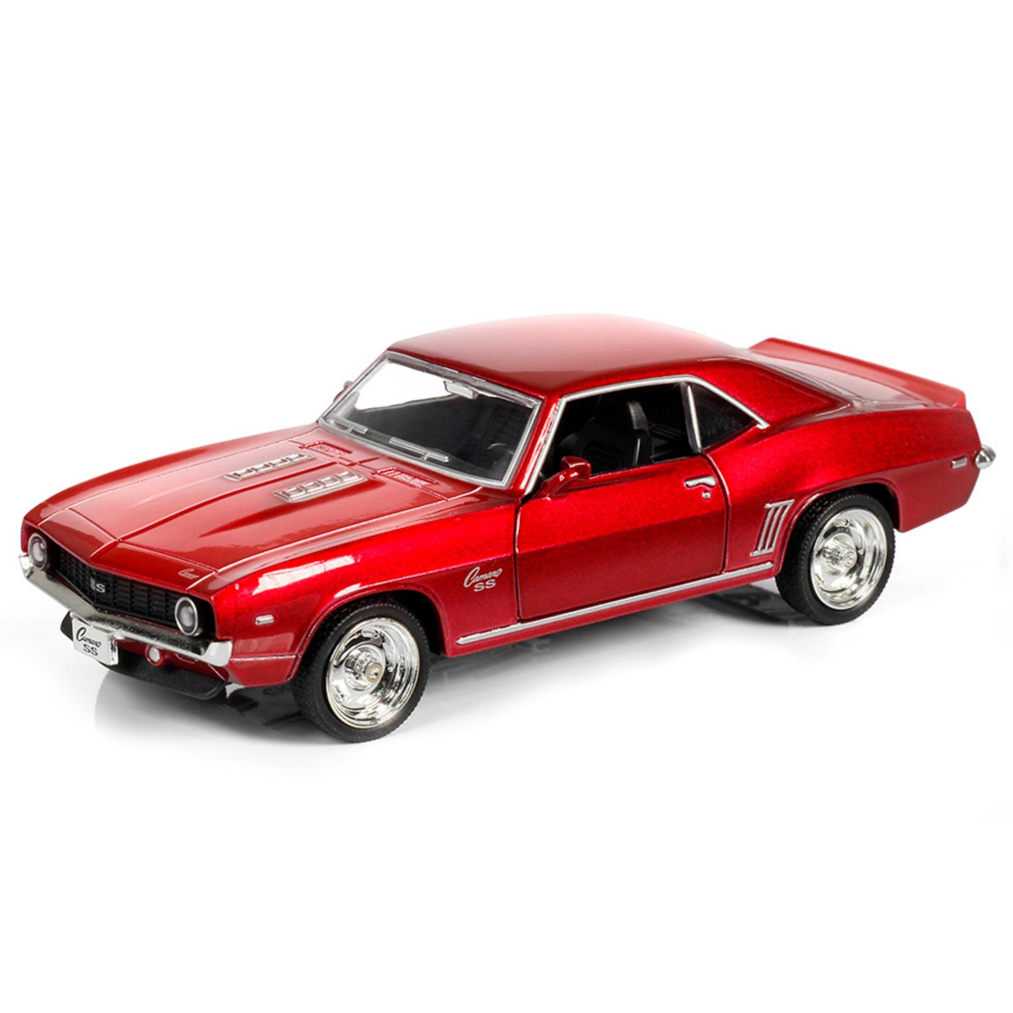 Металлическая инерционная машина RMZ City - Chevrolet Camaro SS 1969, 1:32, красный металликChevrolet<br>Металлическая инерционная машина RMZ City - Chevrolet Camaro SS 1969, 1:32, красный металлик<br>