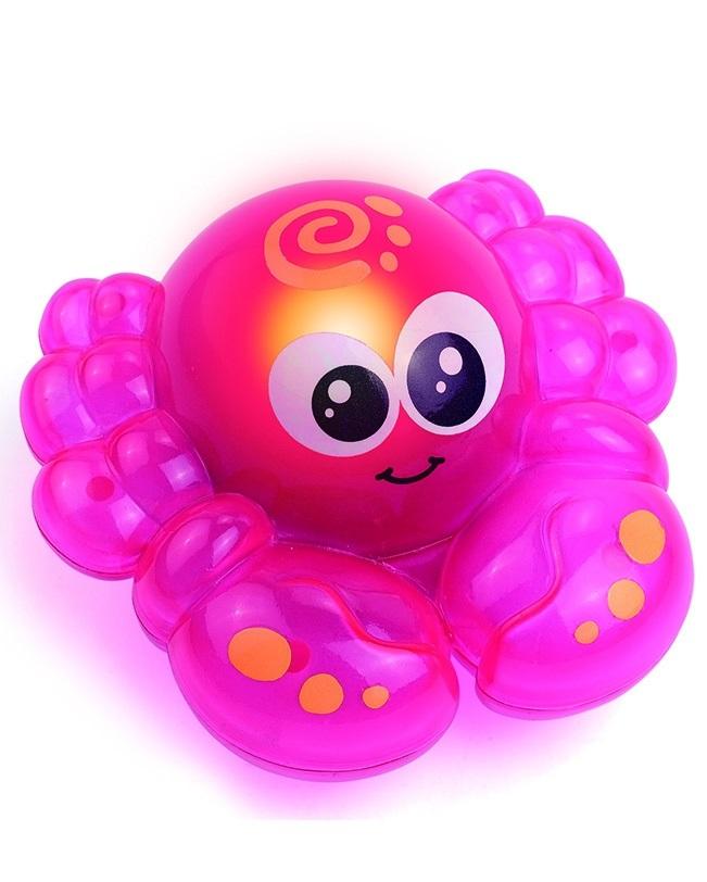 Игрушка детская для ванной – Крабик, со световым эффектомИгрушки для ванной<br>Игрушка детская для ванной – Крабик, со световым эффектом<br>
