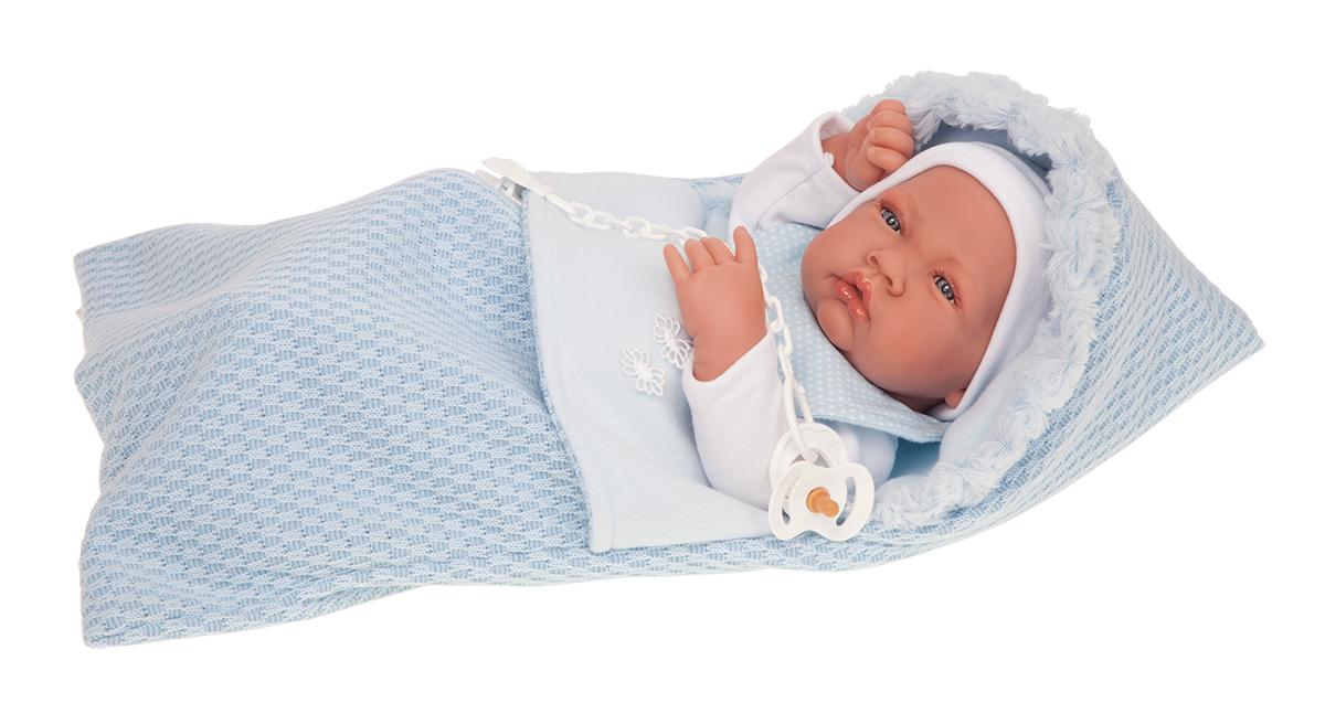 Купить Кукла-младенец Нестор в голубом, 42 см., Antonio Juan Munecas