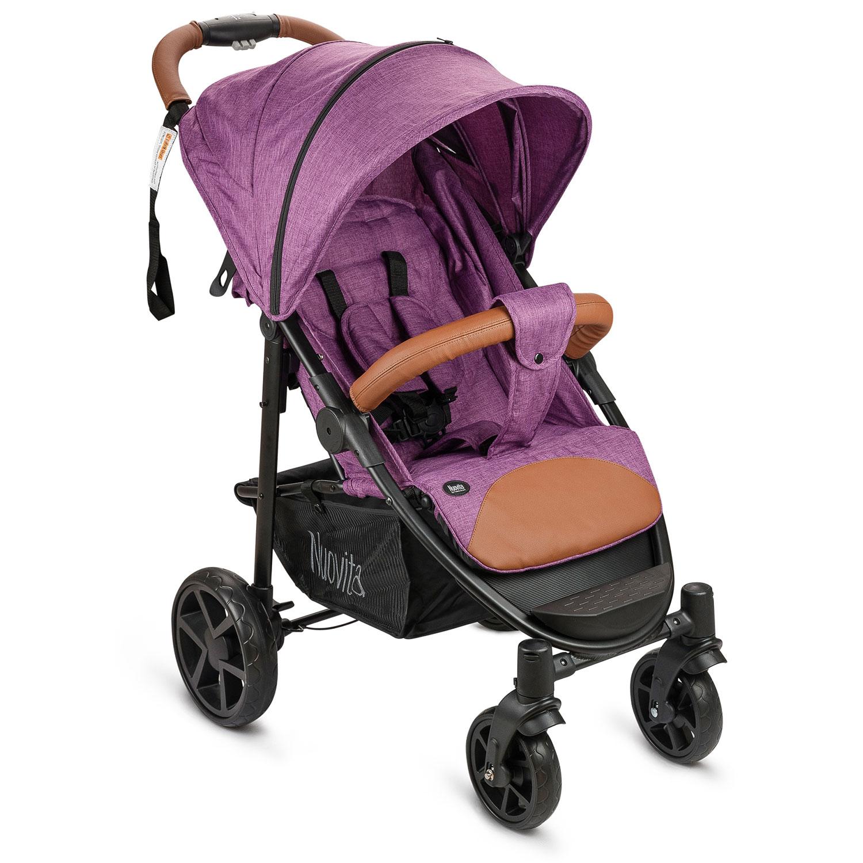 Прогулочная коляска Nuovita Corso, цвет фиолетовый, шасси черное фото