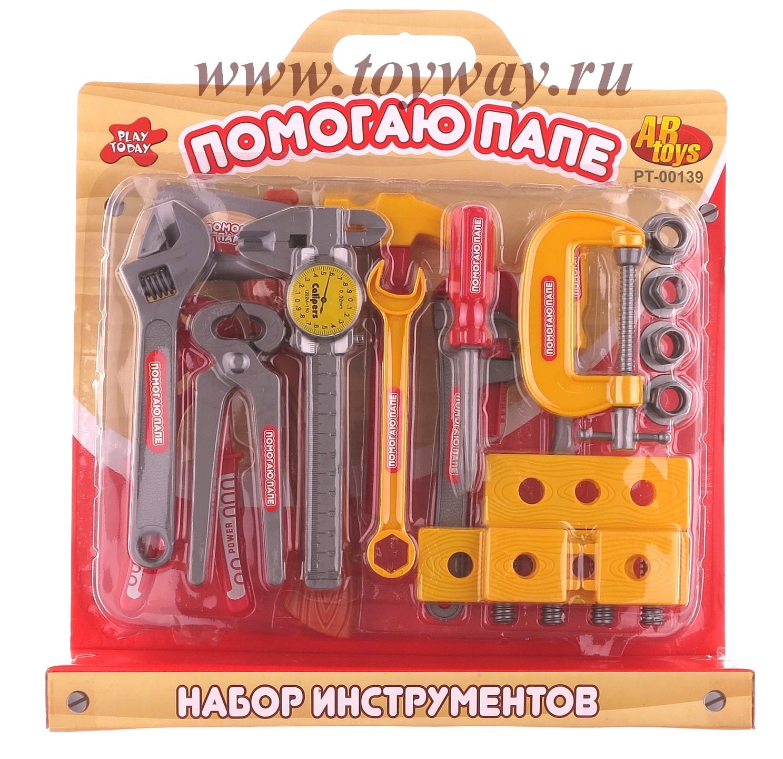 Игровой набор инструментов, 23 предметаДетские мастерские, инструменты<br>Игровой набор инструментов, 23 предмета<br>