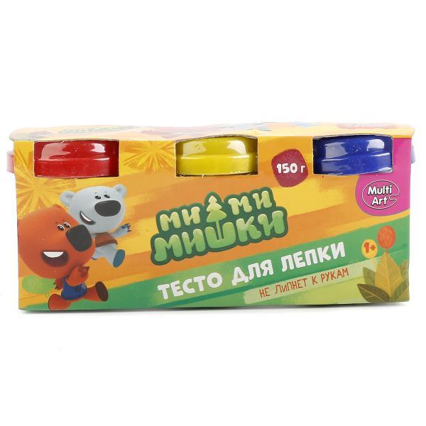 Тесто для лепки Мимимишки, 3 разноцветных стаканчика по 50 грамм