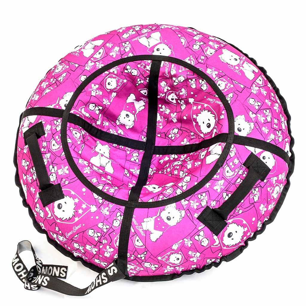 Купить Санки надувные - Тюбинг, собачки на розовом, диаметр 118 см, RT