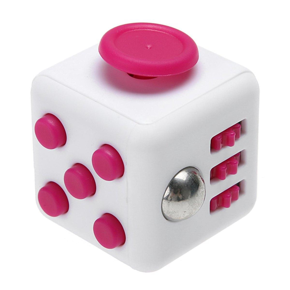 Игрушка антистресс - FidgetCube Light, бело-розовыйАнтистресс кубики Fidget Cube<br>Игрушка антистресс - FidgetCube Light, бело-розовый<br>