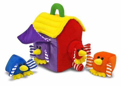 Мягкая игрушка-сортировщик ПтичкиСортеры, пирамидки<br>Мягкая игрушка-сортировщик Птички<br>
