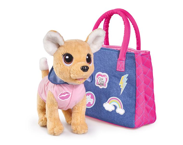 Купить Плюшевая собачка из серии Chi-Chi love - Городская мода, с сумочкой, стикерами, 20 см., Simba