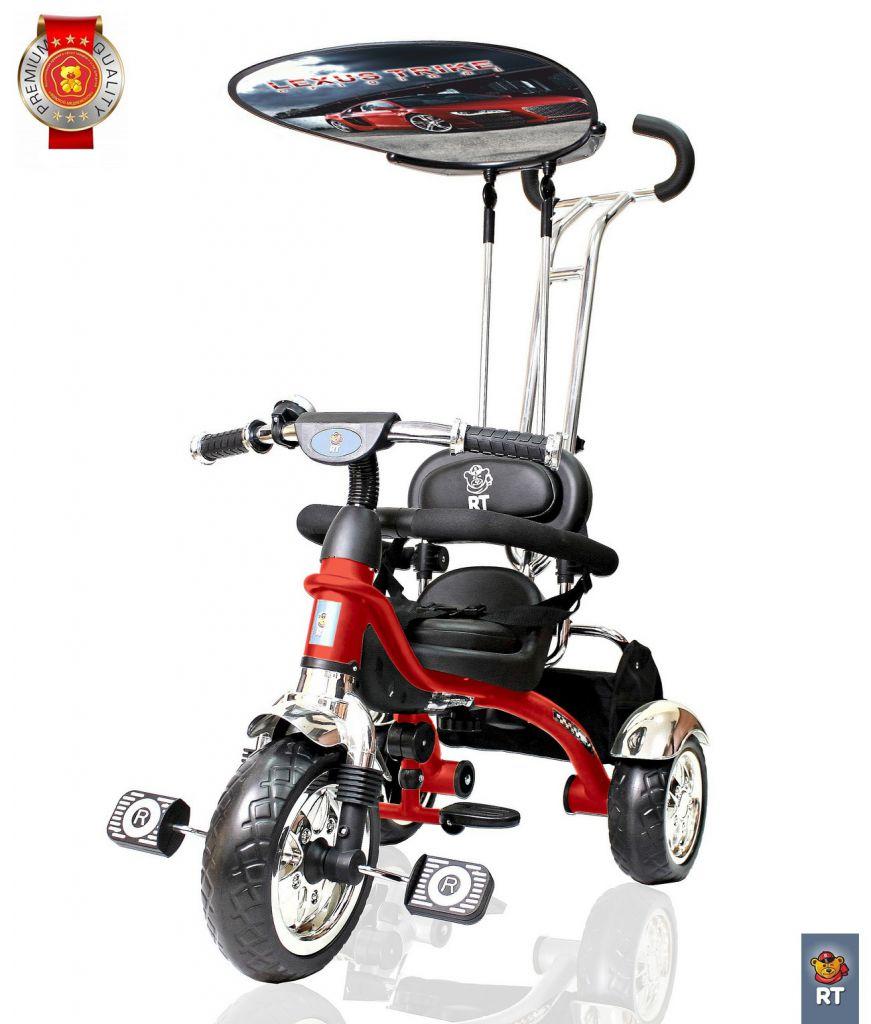 Купить 3-х колесный велосипед Lexus trike original RT Grand Print Deluxe New Design 2014, колеса EVA, цвет – красный