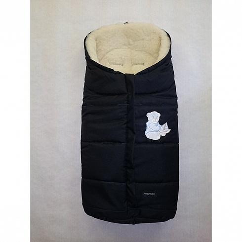 Спальный мешок в коляску №12  Wintry, черный - Прогулки и путешествия, артикул: 171059