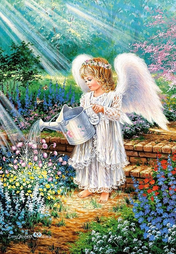 Купить со скидкой Пазлы Castorland - Ангел в саду, 1000 элементов