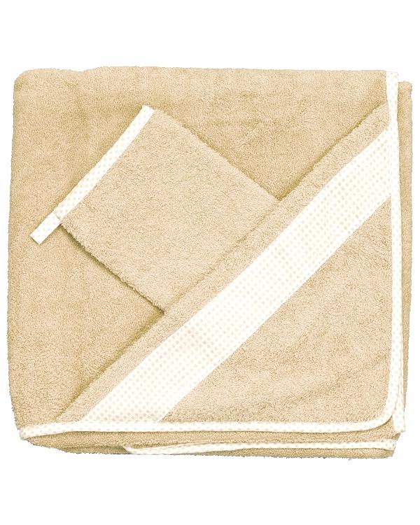 Комплект для купания Babyhood Frotte, бежевыйполотенца и халаты<br>Комплект для купания Babyhood Frotte, бежевый<br>