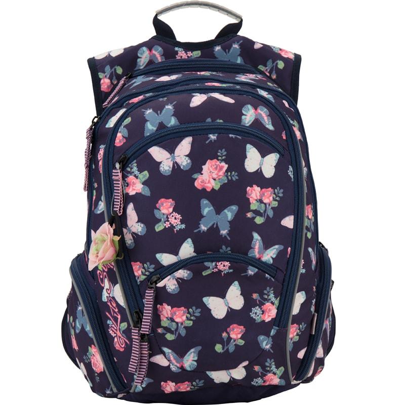 Рюкзак с цветочками, бабочками и резиночкой для волос Kite Style 857-2