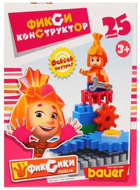 Фикси-конструктор, 25 элементов – СимкаКонструкторы Bauer Кроха (для малышей)<br>Фикси-конструктор, 25 элементов – Симка<br>