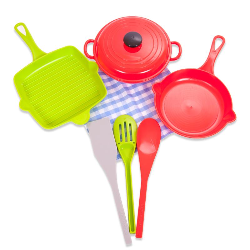 Набор посуды для кухни в сетке - Помогаю Маме, 8 предметовАксессуары и техника для детской кухни<br>Набор посуды для кухни в сетке - Помогаю Маме, 8 предметов<br>