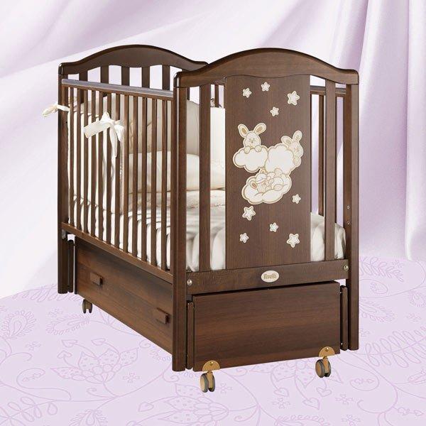 Кровать детская Feretti Romance Swing NoceДетские кровати и мягкая мебель<br>Кровать детская Feretti Romance Swing Noce<br>
