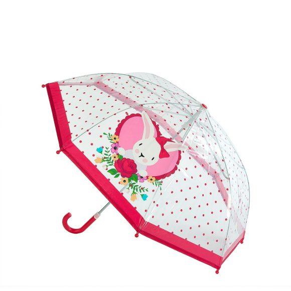 Зонт детский Rose Bunny прозрачный, 46 см., коллекция Lady MaryДетские зонты<br>Зонт детский Rose Bunny прозрачный, 46 см., коллекция Lady Mary<br>