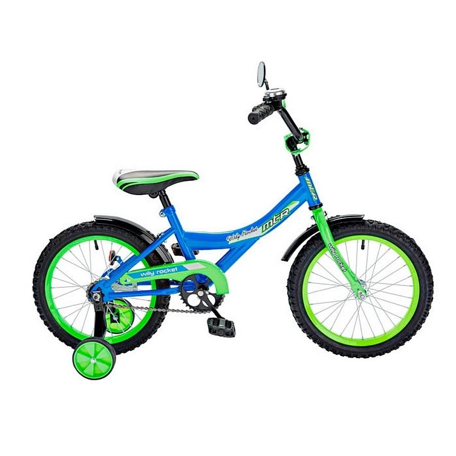Двухколесный велосипед Wily Rocket, диаметр колес 14 дюймов, синийВелосипеды детские<br>Двухколесный велосипед Wily Rocket, диаметр колес 14 дюймов, синий<br>