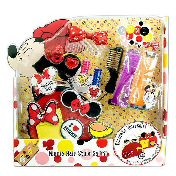 Набор детской декоративной косметики для волос из серии MinnieЮная модница, салон красоты<br>Набор детской декоративной косметики для волос из серии Minnie<br>