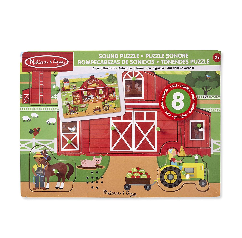 Купить Пазл со звуком - Вокруг фермы, 8 элементов, Melissa&Doug