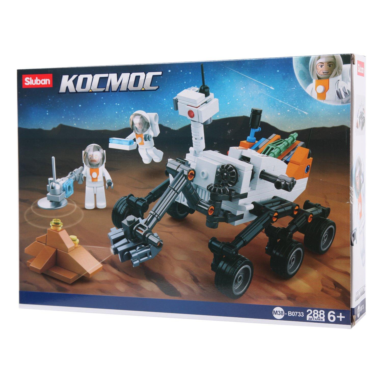 Конструктор Космический робот с фигурками 288 деталей.
