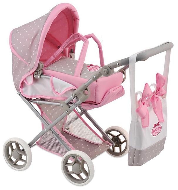 Купить Средняя классическая коляска для куклы Bambolina Boutique с сумкой, DIMIAN