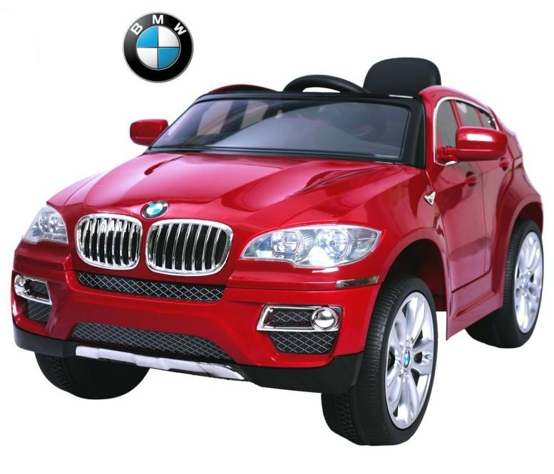 Электромобиль RT 258 - BMW X6 12V R/C red metallicЭлектромобили, детские машины на аккумуляторе<br>Электромобиль RT 258 - BMW X6 12V R/C red metallic<br>
