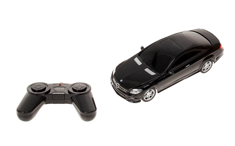 картинка Машина на радиоуправлении 1:24 Mercedes CL63 AMG, цвет чёрный, 27MHZ от магазина Bebikam.ru