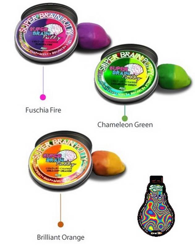 картинка Жвачка для рук Super Brain Putty, серия Меняющая цвет, 3 оттенка, 75 гр. от магазина Bebikam.ru