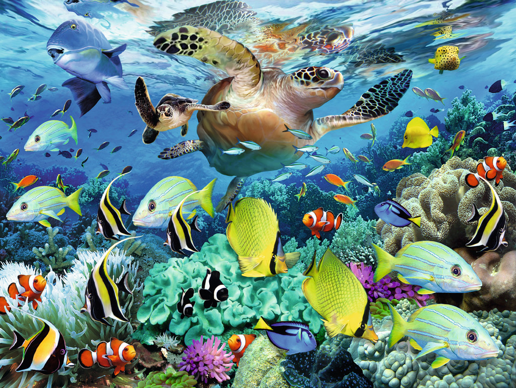 Паззл «Коралловый риф» 150 шт