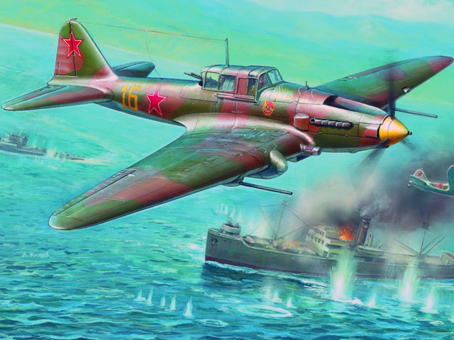 Купить Сборная модель - Советский штурмовик Ил-2 с пушками НС-37, ZVEZDA