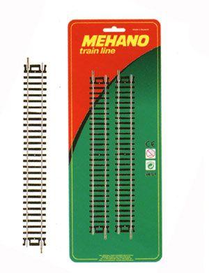 Купить Рельсы Mehano: Набор прямых рельсов, масштаб HO, 16, 5 мм.