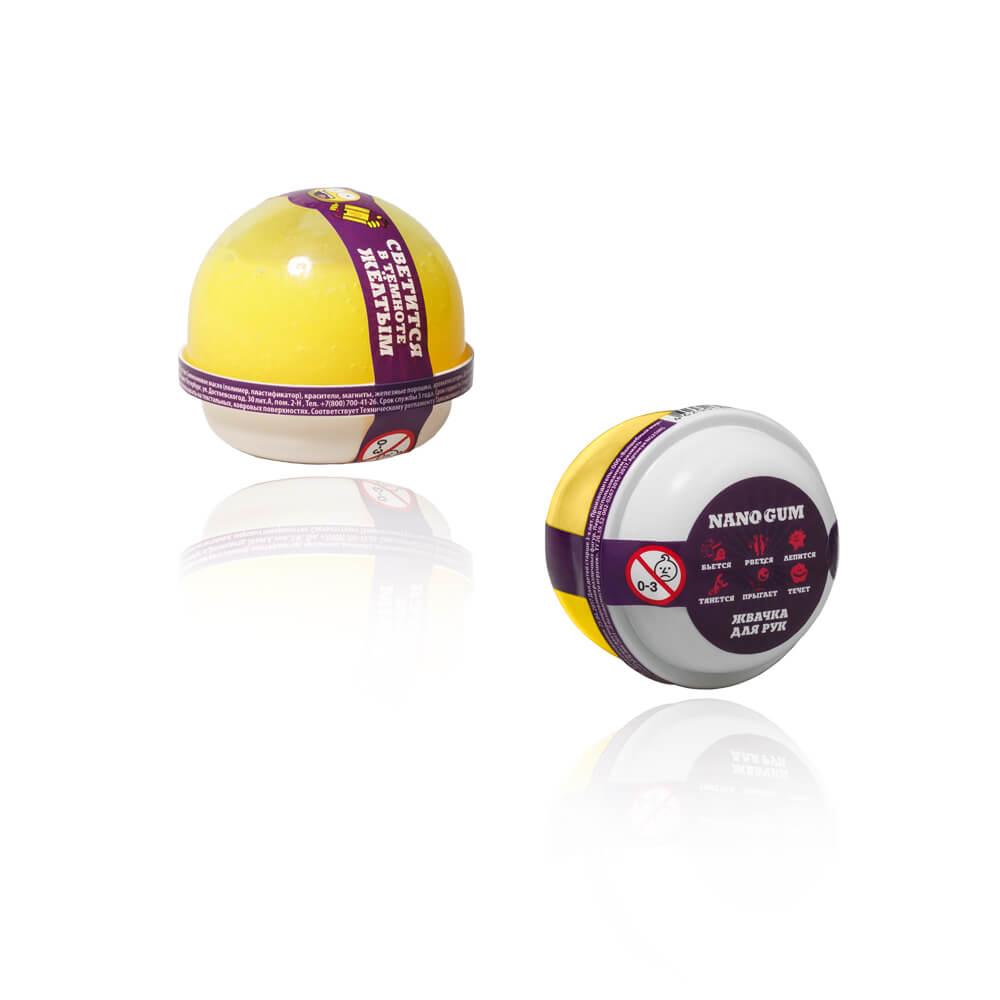 Купить Жвачка для рук из серии Nano gum светится желтым, 25 гр., Волшебный мир