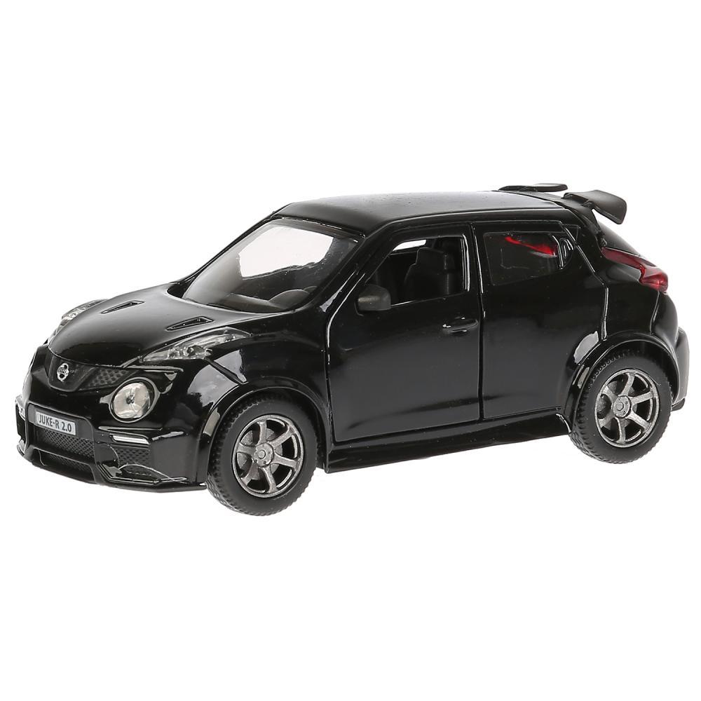 Купить Машина металлическая свет и звук Nissan Juke-R 2.0, 12 см., инерционная, черная, Технопарк